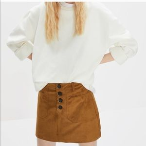 Zara brand new suede mini skirt